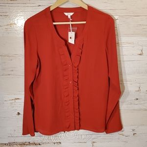 NWT Candie's long sleeve red blouse